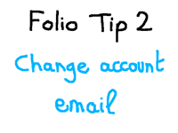 Folio tip 2 / change account email