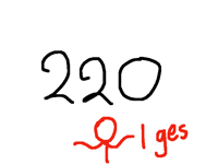 Also 220 too I guess coz I'm a perfectionist