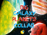 Big galaxy planet collab (folio b-day special)
