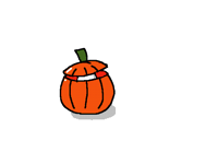 A scary pumpkin!