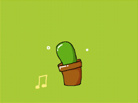 A Cactus loves music