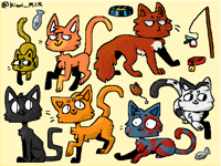 Coloured cats!