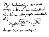 Handwriting check