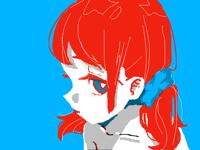 赤い髪の子