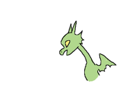 Little dragon but colored