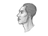 Side portrait sketch