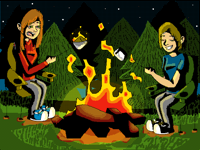 Roasting Marshmallows  (for contest)
