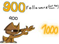 900 Followers