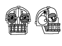 endoskeleton head