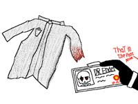 DR Ender old lab coat