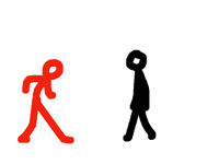 Gear v red stickman