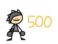When 500 followers