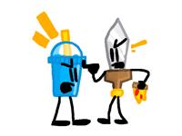 Sword and Slushy having an argument