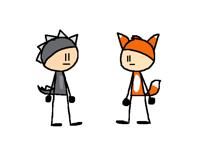 DinoBoi and FoxGuy