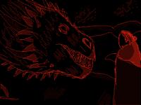 Jon Snow meets a dragon