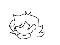 My oc with eyes closed