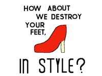 high heels advertisement