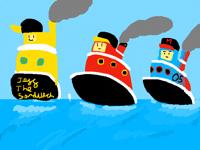 Tugboat Race! @jeffthesandwich and @ArtBoy54