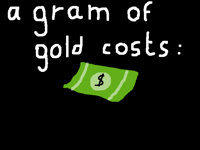 And you think gold is expensive?
