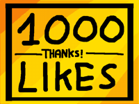 1000 likes, thanks!