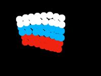 Russian flag (animated & very weird)