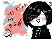 私の誕生日!! (birthday animation)