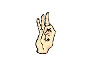 Hands for benji
