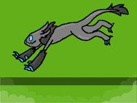 Calcifer doin a bouncie bounce
