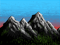 Montains doodle