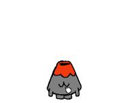 Sleepy volcano