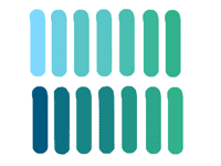 14 shades of turquoise