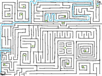 Labyrinth with portals by @zombix