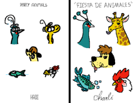 Draw in your style party animals from @Hadi