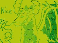 A dragon drawn with dragon scales