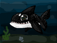 Orca Whale doodle