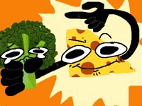 Cheese says eat broccoli :)