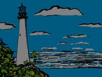 Lighthouse on the night