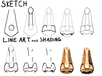 How I draw noses