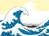 Simplified The Great Wave of Kanagawa