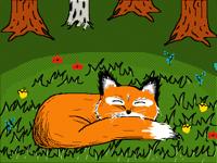 The fox nap