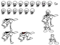 My Papyrus and Sans sprite (for bone time duo)