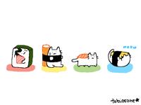 tiny sushi cat bois
