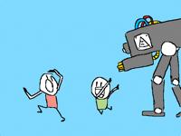 Look, a robot!