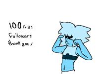 100!(and 3) followersss!!