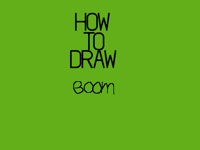 How to draw boom