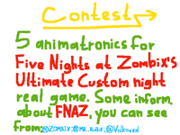 CONTEST. 5 animatronics for FNAZ