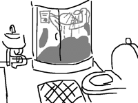 Showering sketch