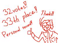 32 votes! 33th place!