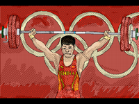 Olympics weightlifting China's Li Fabin