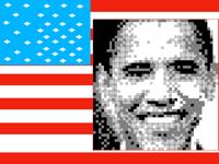 Barack Obama Pixel Art